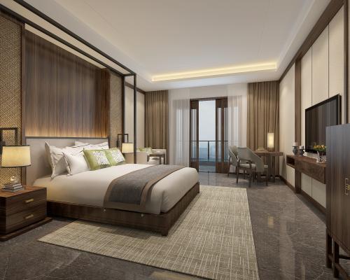 新中式酒店宾馆客房