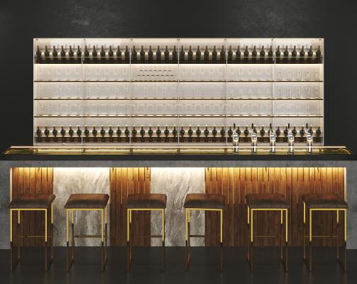 现代酒吧 台 酒柜
