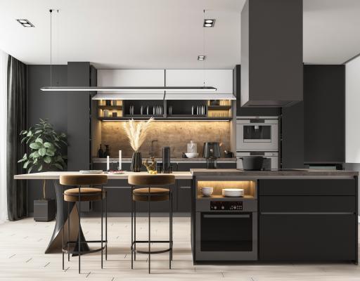 现代开放式厨房