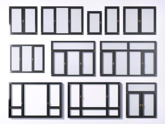 现代窗户 窗框