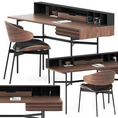 现代实木书桌椅