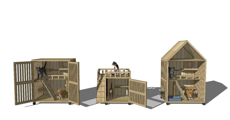 现代风格置物架 猫爬架 猫屋
