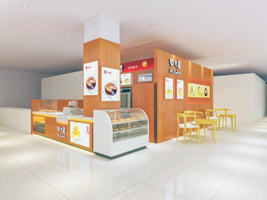 现代甜品面包店