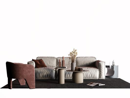 現代布藝沙發