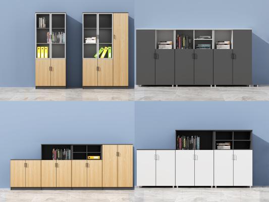 现代木制办公文件柜 矮柜 资料柜