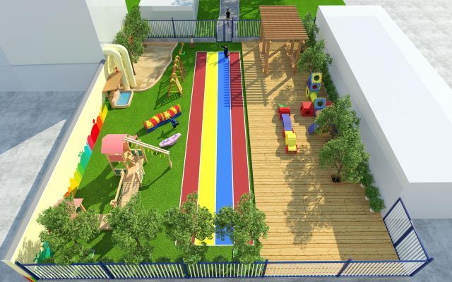 现代幼儿园操场