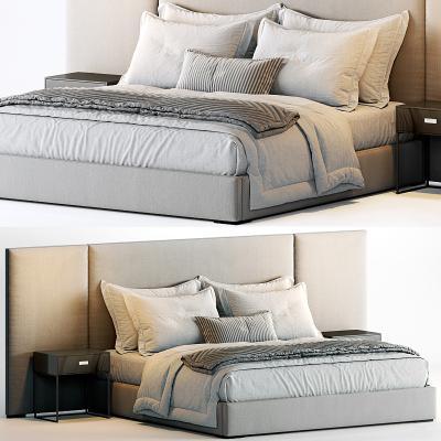 現代Minotti布藝雙人床