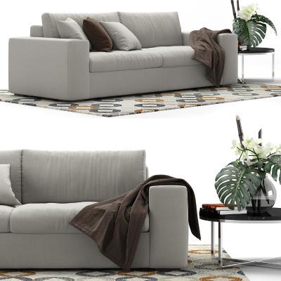 现代布制沙发