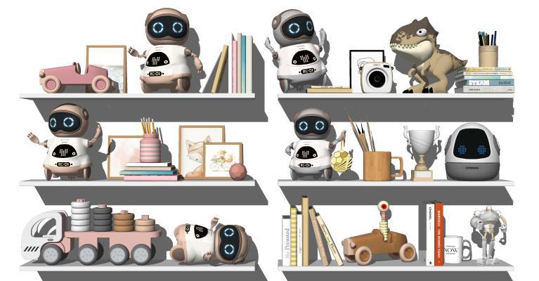 现代儿童玩具 智能机器人 儿童房摆件