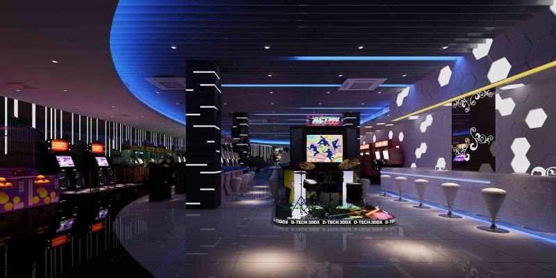 现代游艺厅游戏机厅电玩城