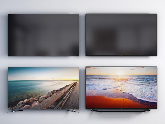 现代电视机 电视 家用电视