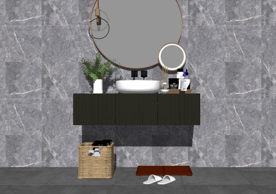 现代浴室柜 洗手台
