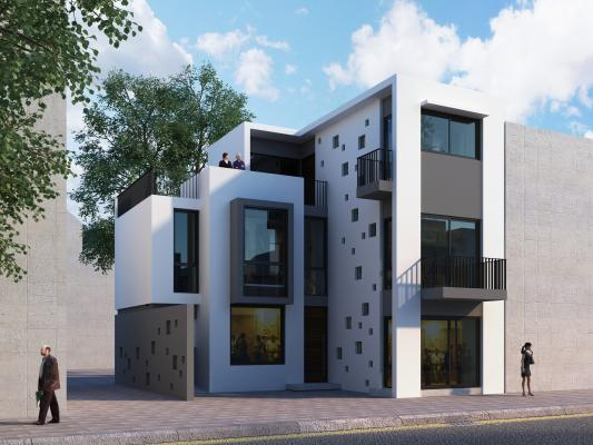 现代别墅 公寓 建筑外观