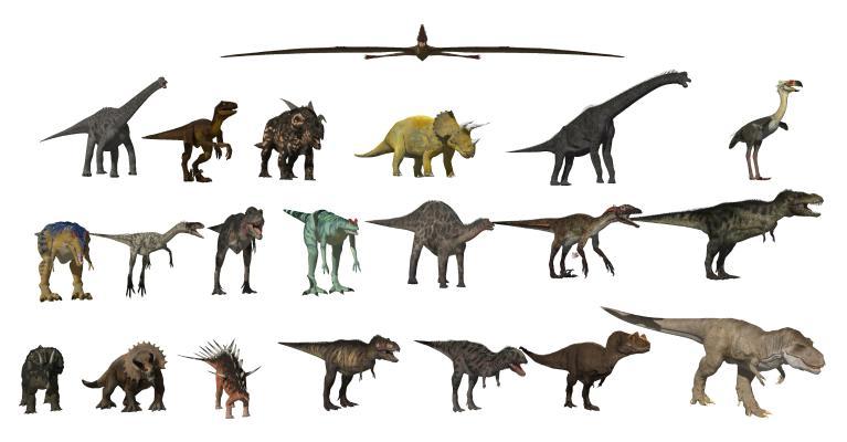 现代恐龙组合 动物 远古生物