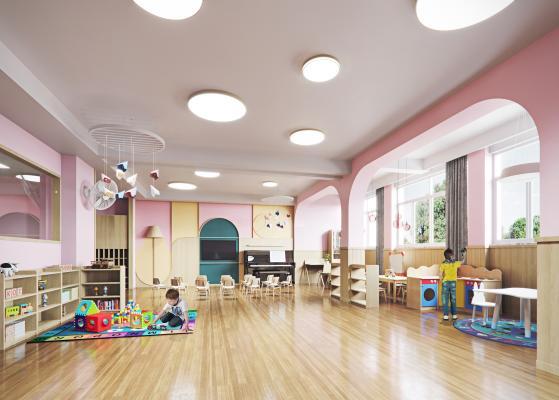 现代幼儿园教室 卫生间