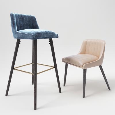 现代轻奢吧台椅餐椅