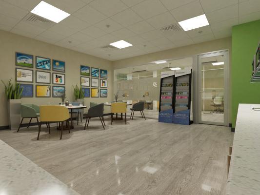 现代风格办公空间 休闲区