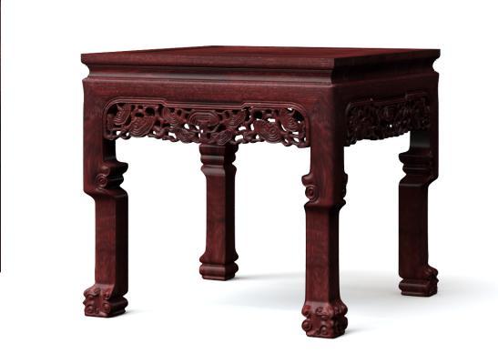 古典中式灵芝中堂八仙桌