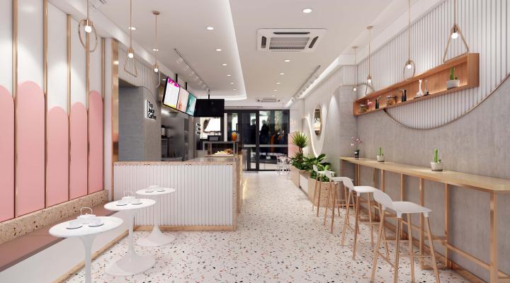 北欧风格餐饮空间 奶茶店