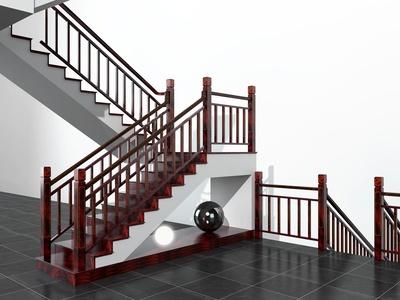 新中式楼梯 实木楼梯