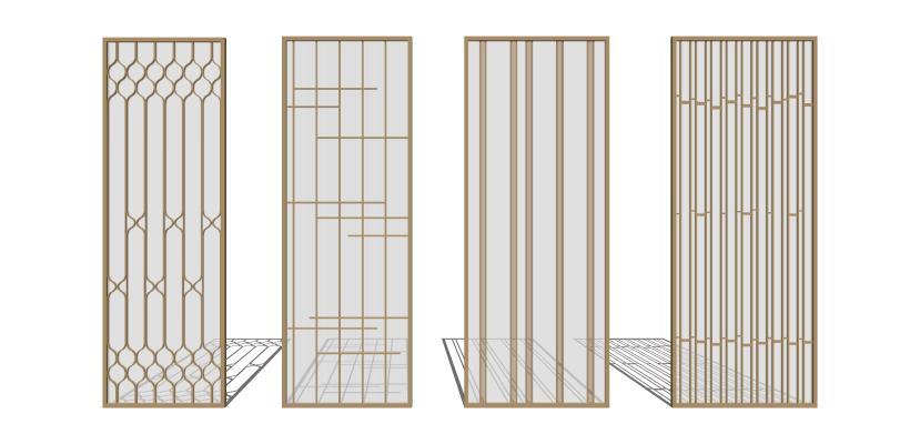 现代金属玻璃隔断