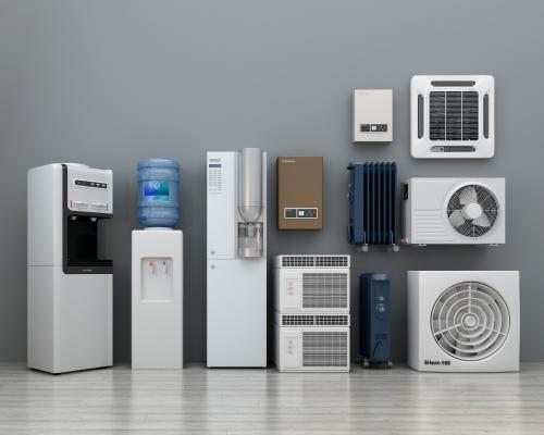 现代饮水机空调口外机组合