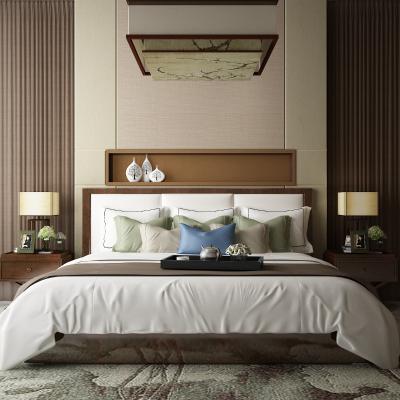 新中式床 饰品