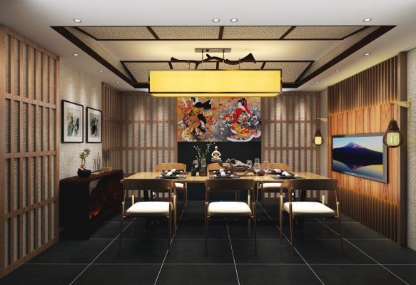 日式餐厅包间