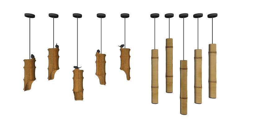 新中式竹筒吊灯