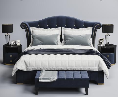 现代床组合