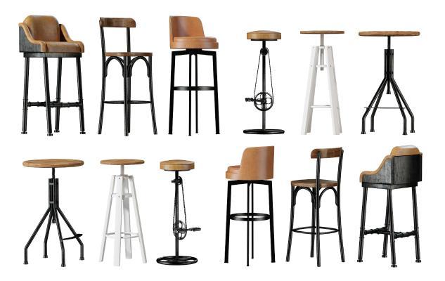 工业风吧椅 吧凳 高脚凳