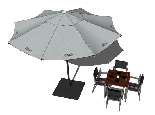 现代户外椅 休闲桌椅 遮阳伞