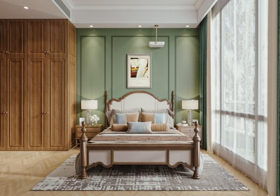 美式復古臥室