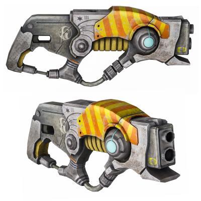 现代科幻玩具枪 激光枪 手枪
