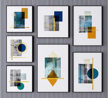 现代装饰画 抽象画 艺术画