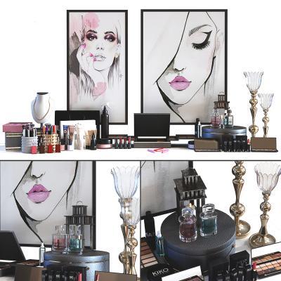 現代化妝品 擺件組合