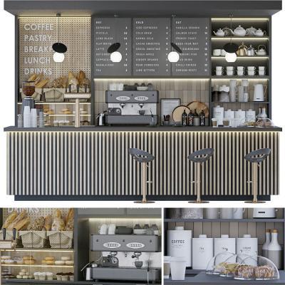 現代咖啡廳吧臺