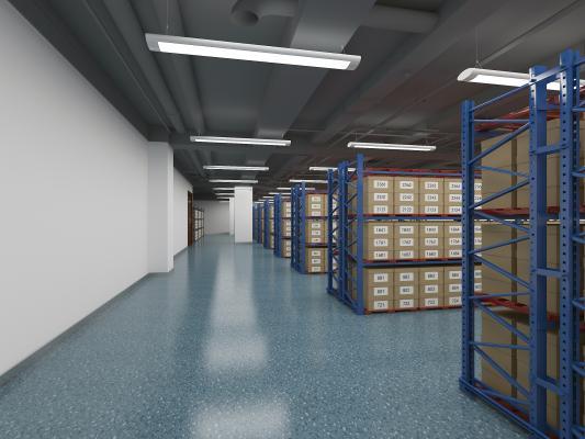现代风格档案室 货架 货箱