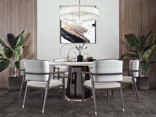 新中式嗡餐�d 餐桌椅