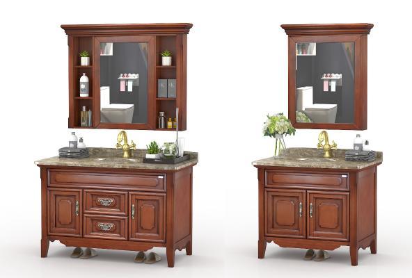 美式浴室柜组合