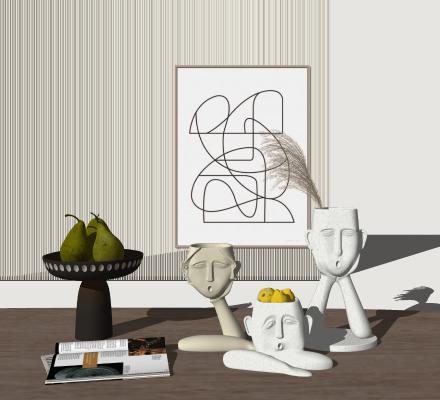 �F代竟然把仙器和�法�B成了一片雕塑�[件�M合 花瓶
