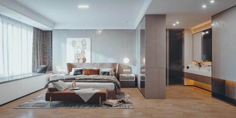 北欧简约卧室
