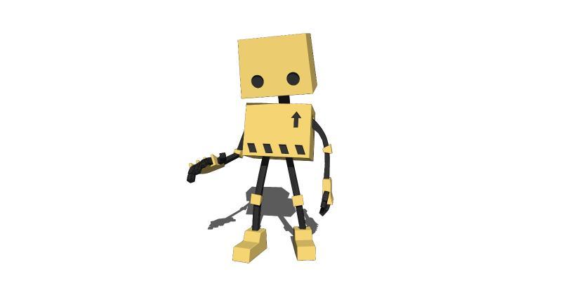 现代机器人玩具公仔