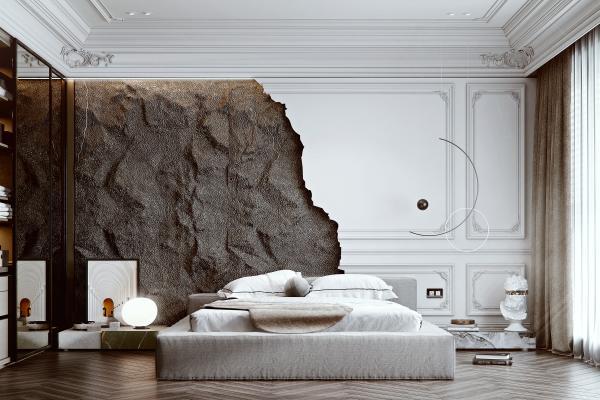 法式风格卧室 双人床 衣柜