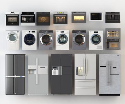 現代风格日用電器 冰箱 洗衣机 烤箱