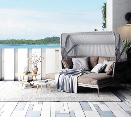 现代户外休闲沙发