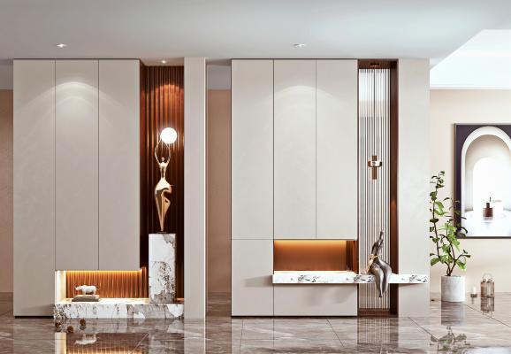 現代玄關柜 隔斷 裝飾品
