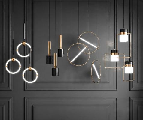 现代组合吊灯