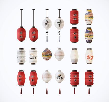 日式灯笼组合