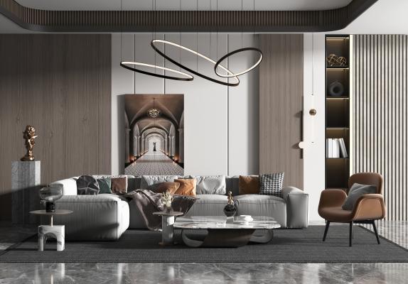 现代风格简约客厅